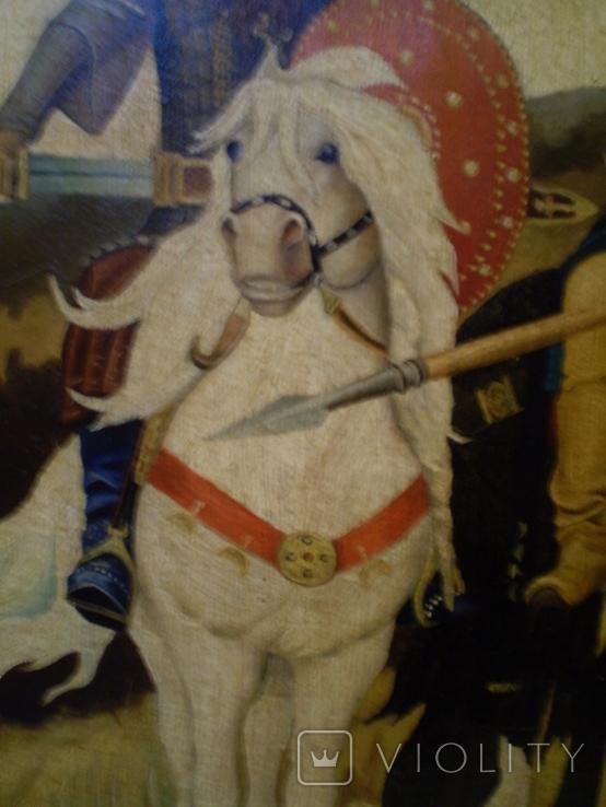 Старая копия картины Васнецова. Три богатыря., фото №5