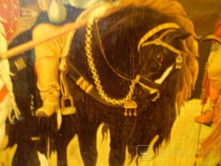 Старая копия картины Васнецова. Три богатыря., фото №7