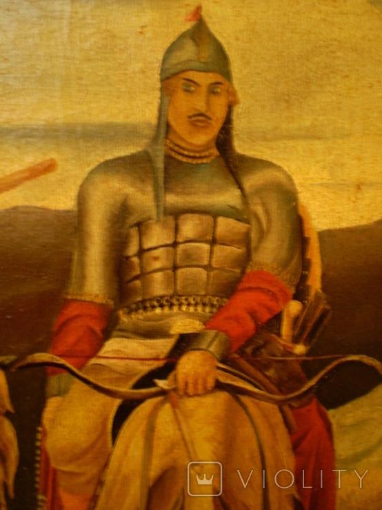 Старая копия картины Васнецова. Три богатыря., фото №8