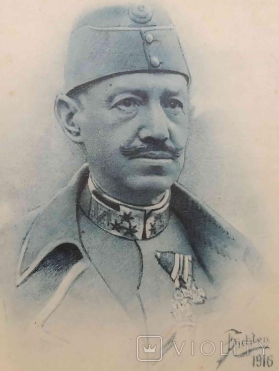 Листівка: Австро-Угорщина, портрет генерала від інфантерії, 1916., фото №3