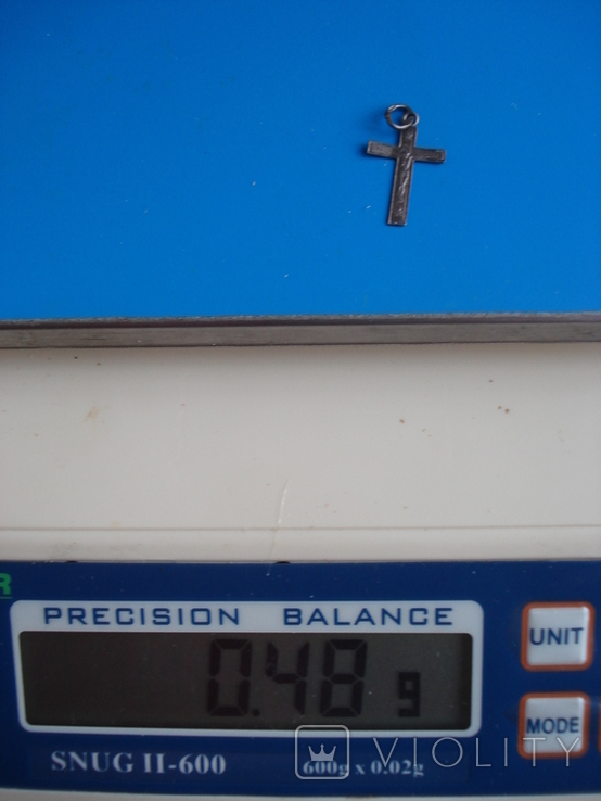 Крестик. Серебро 925 звезда., фото №6