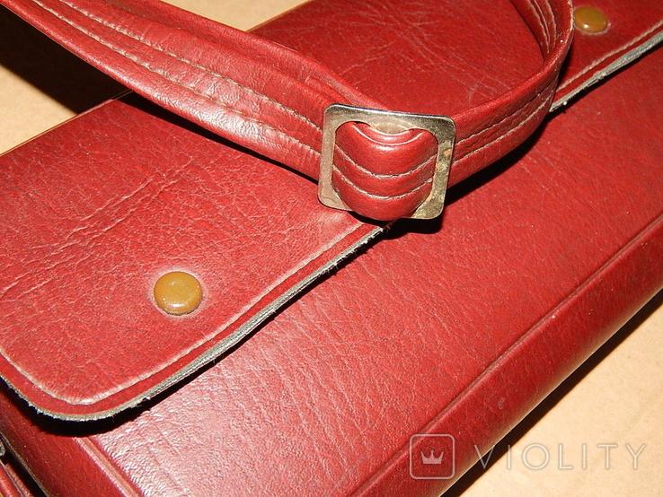Винтажная сумка СССР для переноски и хранения 6 кассет, фото №5