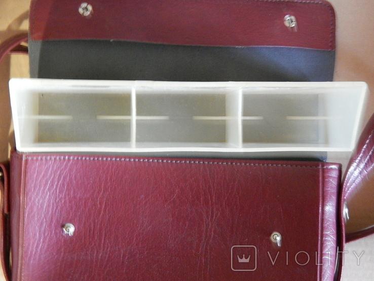 Винтажная сумка СССР для переноски и хранения 6 кассет, фото №6