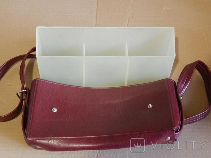 Винтажная сумка СССР для переноски и хранения 6 кассет, фото №7