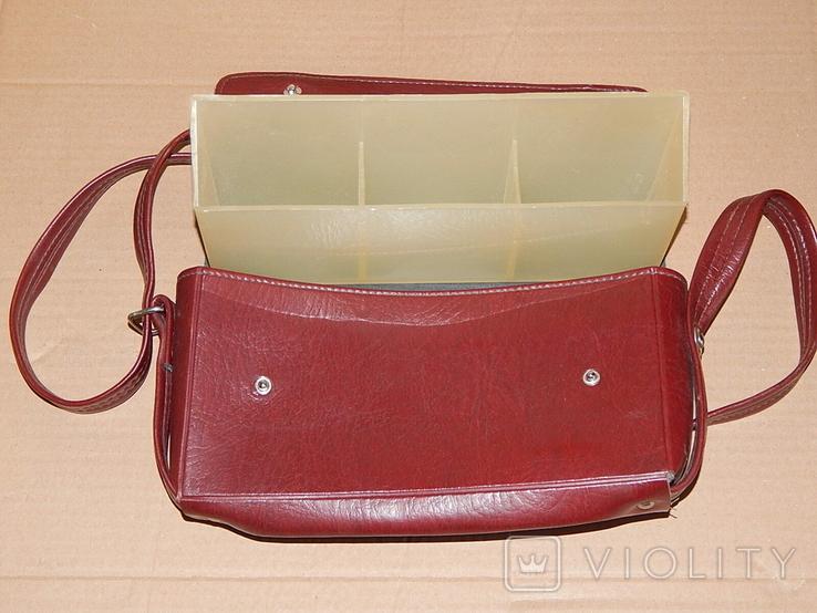 Винтажная сумка СССР для переноски и хранения 6 кассет, фото №9