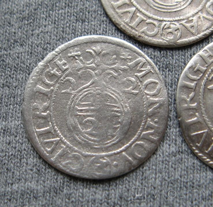 1/24 талера 1623 года. Густав Адольф. Рига ( 3 штуки )., фото №4