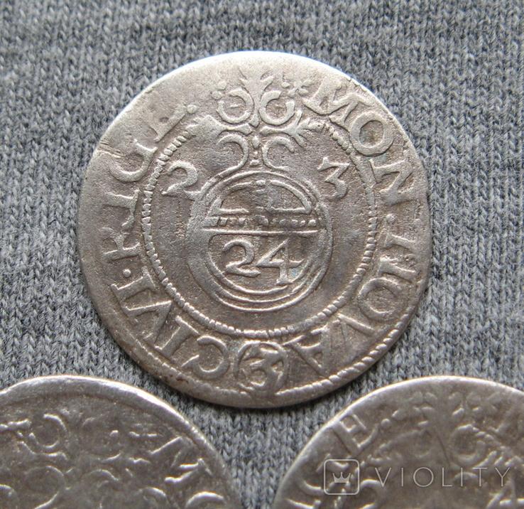1/24 талера 1623 года. Густав Адольф. Рига ( 3 штуки )., фото №5