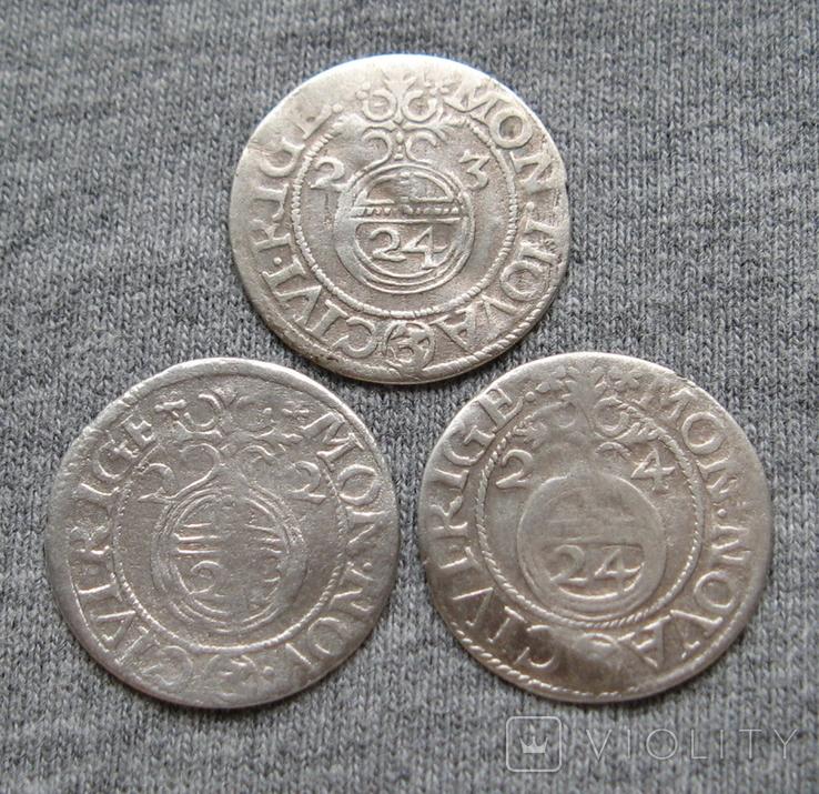 1/24 талера 1623 года. Густав Адольф. Рига ( 3 штуки )., фото №10