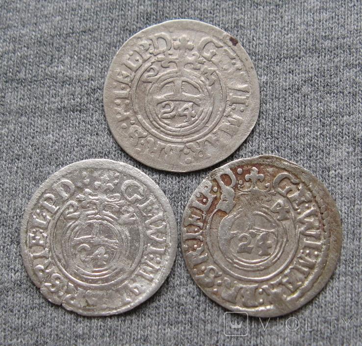 1/24 талера 1600-х годов. Георг Вильгельм. Пруссия ( 3 штуки )., фото №2
