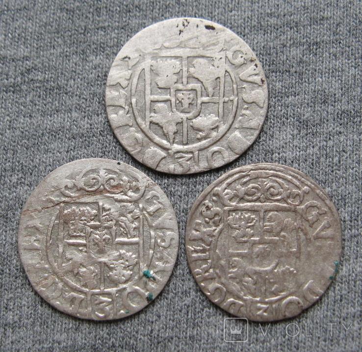 1/24 талера 1600-х годов. Густав Адольф. Швеция и Эльбинг ( 3 штуки )., фото №3