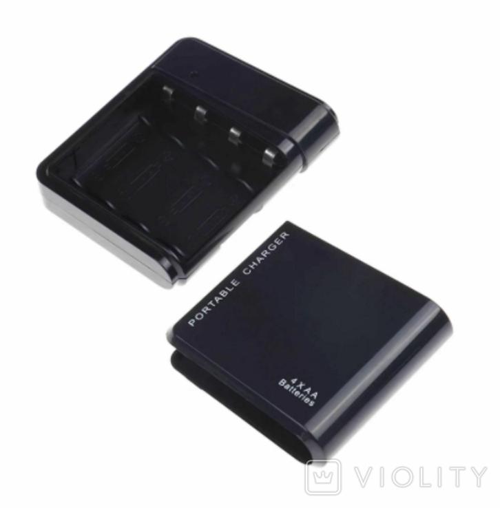 Портативное зарядное устройство Power bank для 4X AA G4 Power (black), фото №4