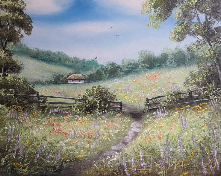 Картина, Фарби літа, 50х40 см. Живопис на полотні, фото №6