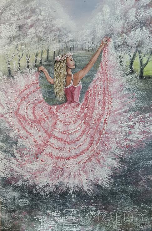 Картина, Танок Весни, 60х40 см. Живопис на полотні, фото №2