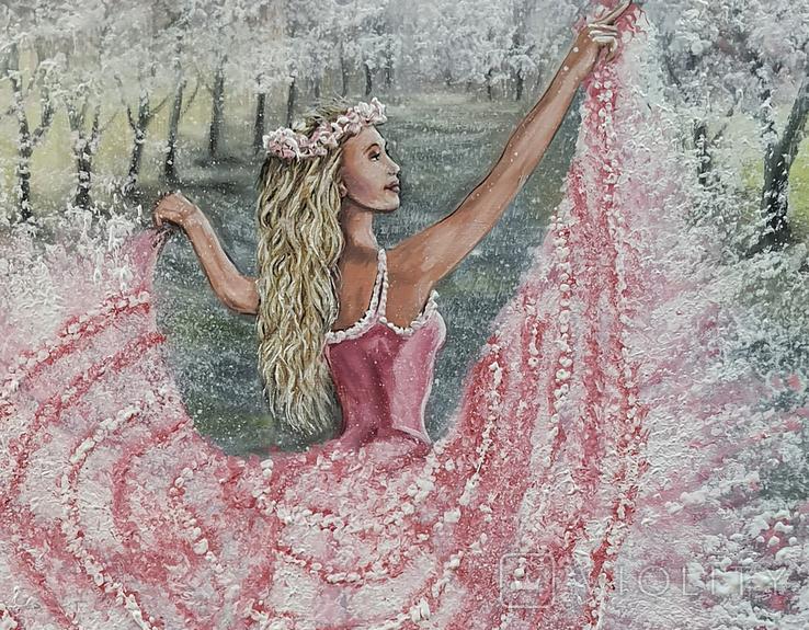 Картина, Танок Весни, 60х40 см. Живопис на полотні, фото №5
