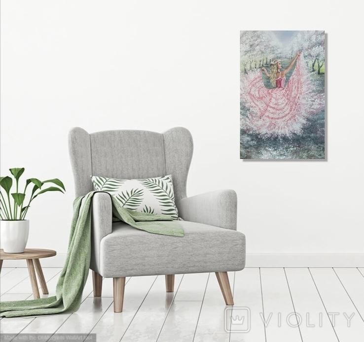 Картина, Танок Весни, 60х40 см. Живопис на полотні, фото №7