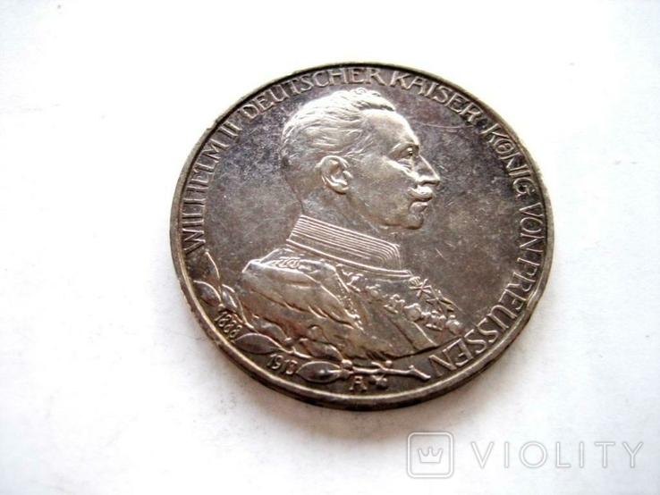 3 марки 1913 р. Прусія, фото №2