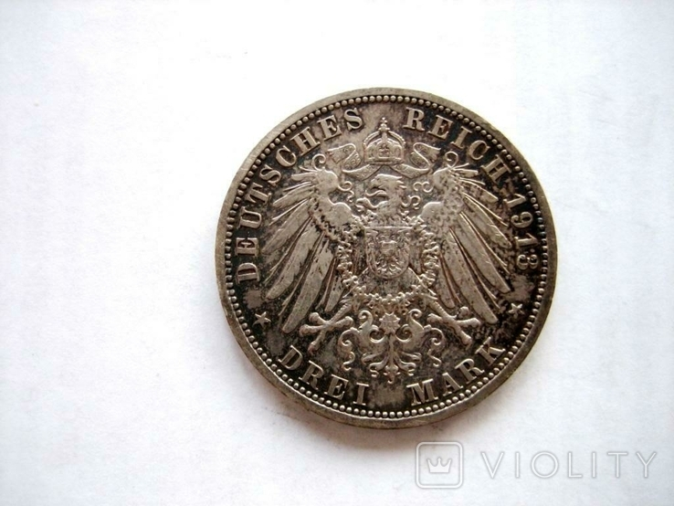 3 марки 1913 р. Прусія, фото №5