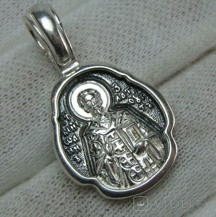 Новый Серебряный Кулон Подвеска Ладанка Иоанн Иван Златоуст Серебро 925 проба 699, фото №2