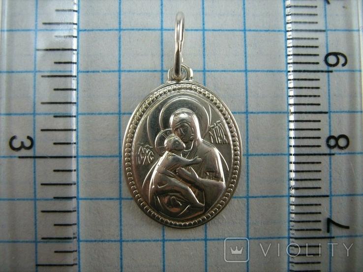 Серебряный Кулон Образок Ладанка Богородица Владимирская Умиление Серебро 925 проба 861, фото №4