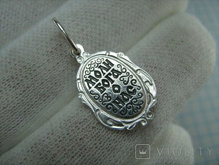 Новый Серебряный Кулон Ладанка Святой Константин Серебро 925 проба 691, фото №3