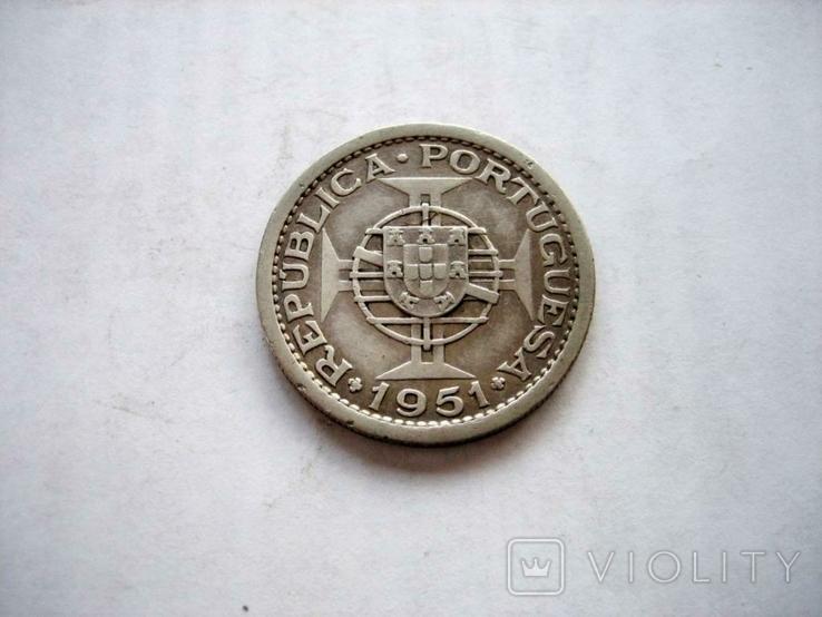 Португальська монета 1951 року., фото №4