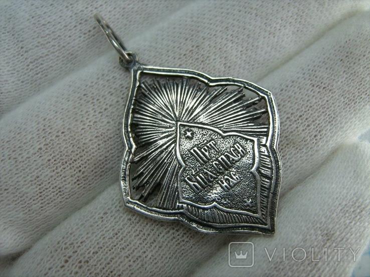Новый Серебряный Кулон Подвеска Ладанка Богородица Мария Серебро 925 проба 794, фото №3