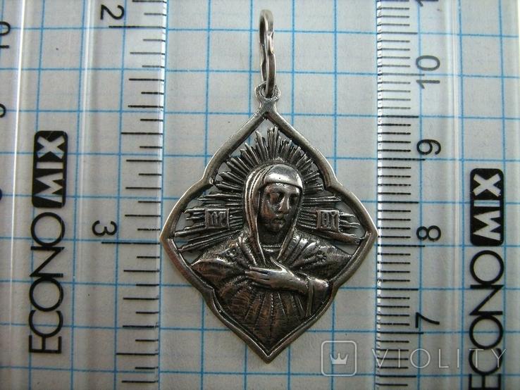 Новый Серебряный Кулон Подвеска Ладанка Богородица Мария Серебро 925 проба 794, фото №4
