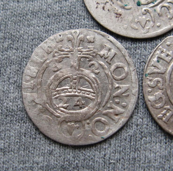 1/24 талера 1600-х годов. Густав Адольф. Швеция и Эльбинг ( 3 штуки )., фото №4
