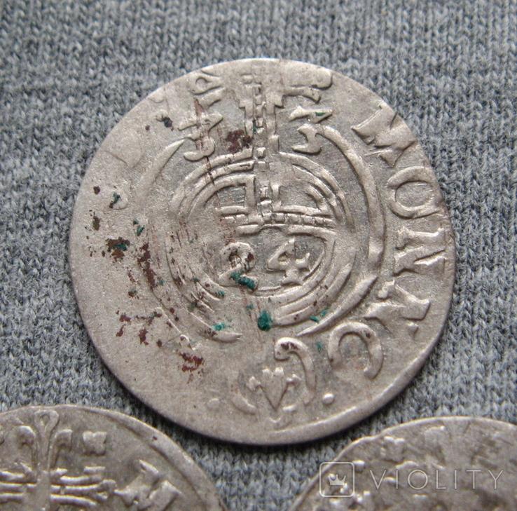 1/24 талера 1600-х годов. Густав Адольф. Швеция и Эльбинг ( 3 штуки )., фото №5