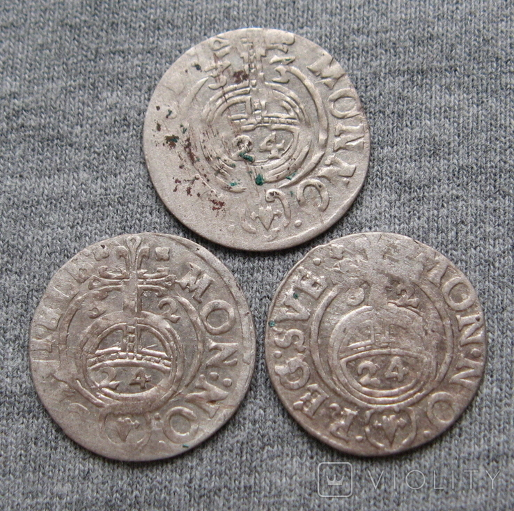 1/24 талера 1600-х годов. Густав Адольф. Швеция и Эльбинг ( 3 штуки )., фото №10