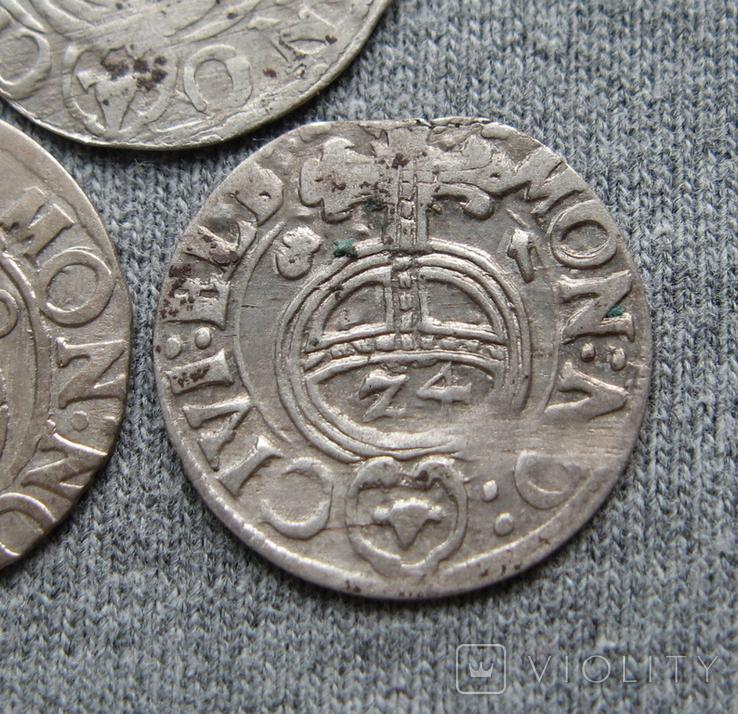 1/24 талера 1600-х годов. Густав Адольф. Эльбинг ( 3 штуки )., фото №6