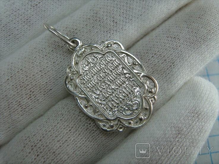 Новый Серебряный Кулон Ладанка Святой Владимир Серебро 925 проба 815, фото №3