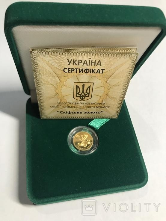 "2 грн Золото 9999 проби ""Скіфське золото "" Богиня Апи"" 2008, фото №2"