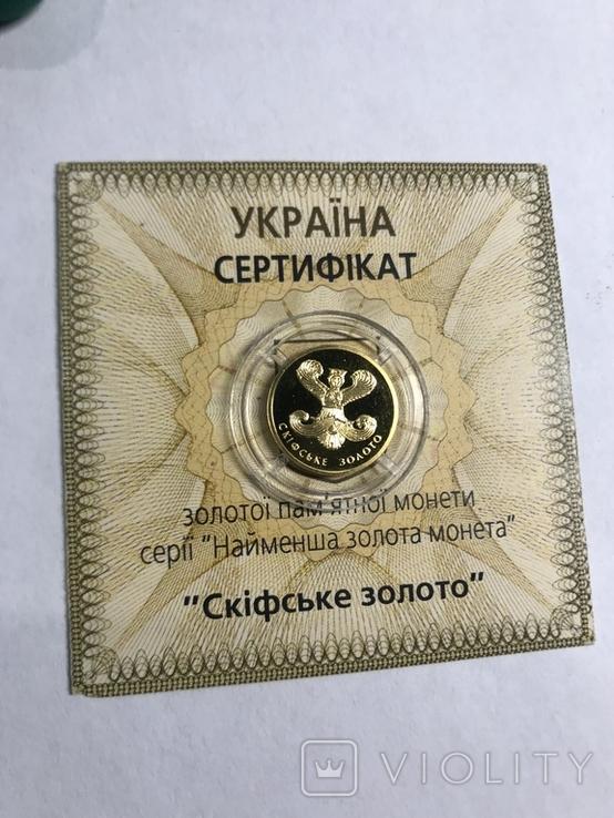 "2 грн Золото 9999 проби ""Скіфське золото "" Богиня Апи"" 2008, фото №3"