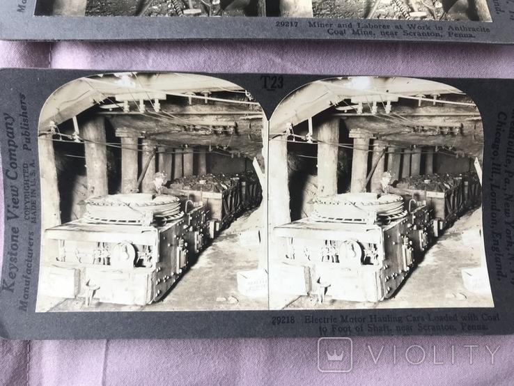 Стерео открытки. Добыча угля., фото №3