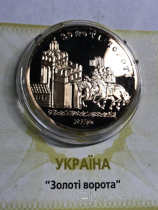 """100 гривень 2004 року, """"Золоті Ворота"""", proof, сертифікат, фото №2"""
