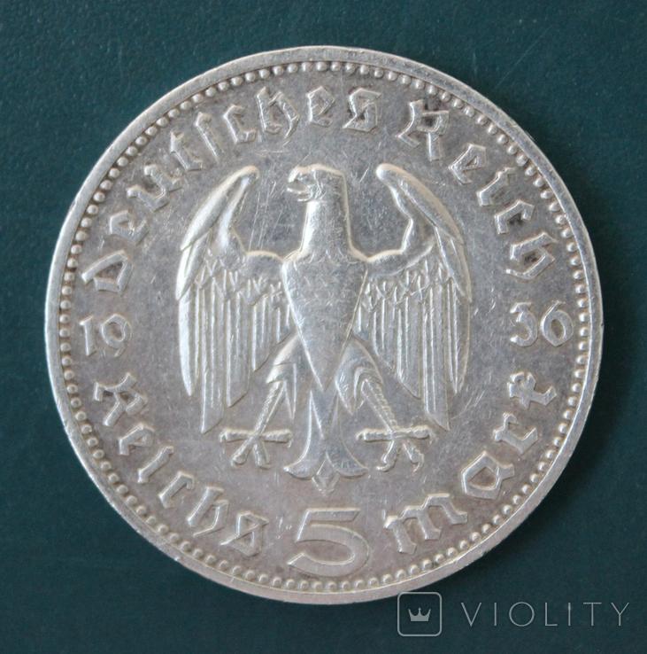 5 марок 1936(J), фото №3