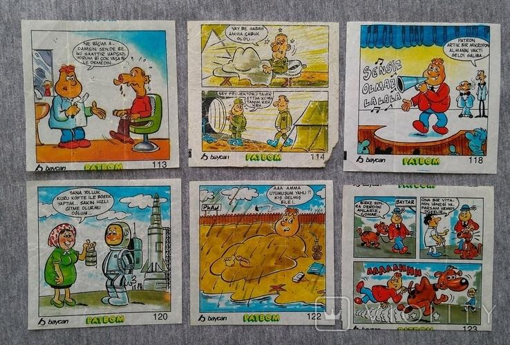 Вкладыши комиксы Patbom большие 29 шт., фото №4