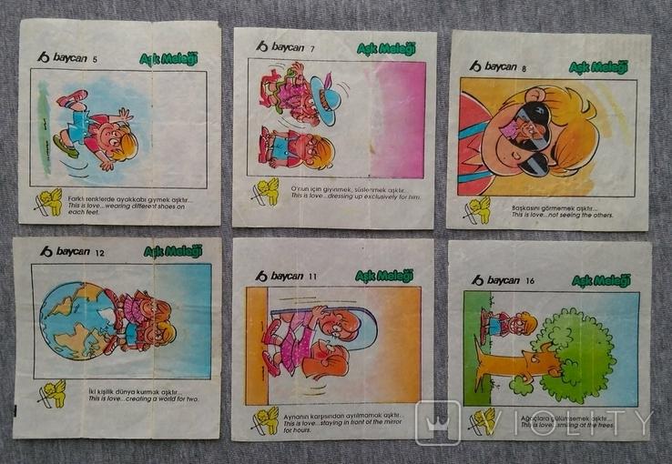 Вкладыши Комиксы Baycan большие 12 шт., фото №2