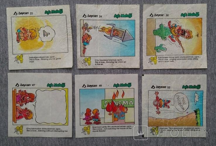 Вкладыши Комиксы Baycan большие 12 шт., фото №3