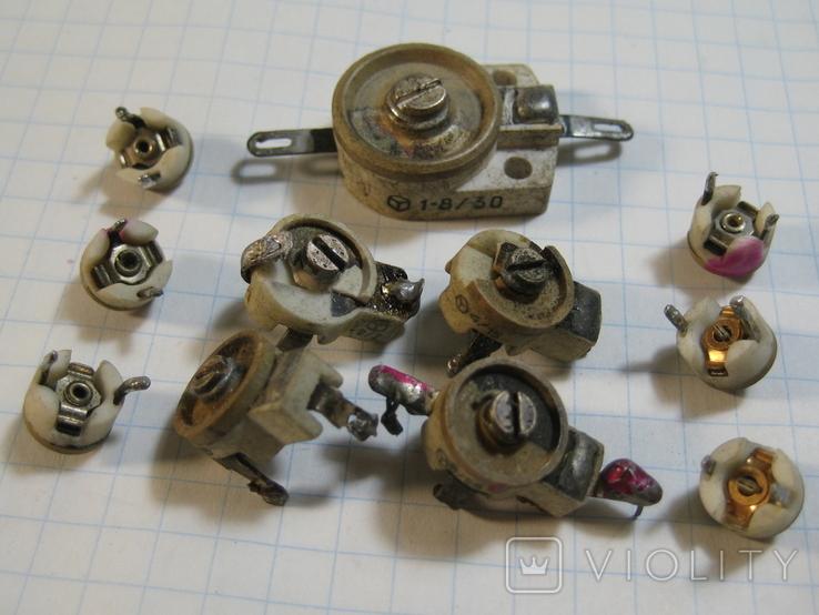 Конденсаторы подстроечные 11 шт, фото №2
