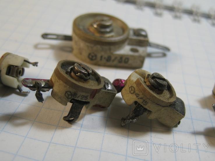 Конденсаторы подстроечные 11 шт, фото №5