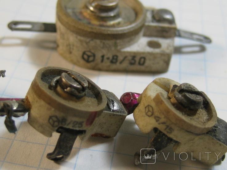 Конденсаторы подстроечные 11 шт, фото №6