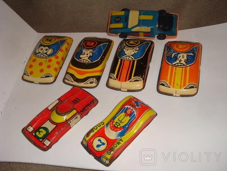 Машинки гоночные 7 шт., фото №2