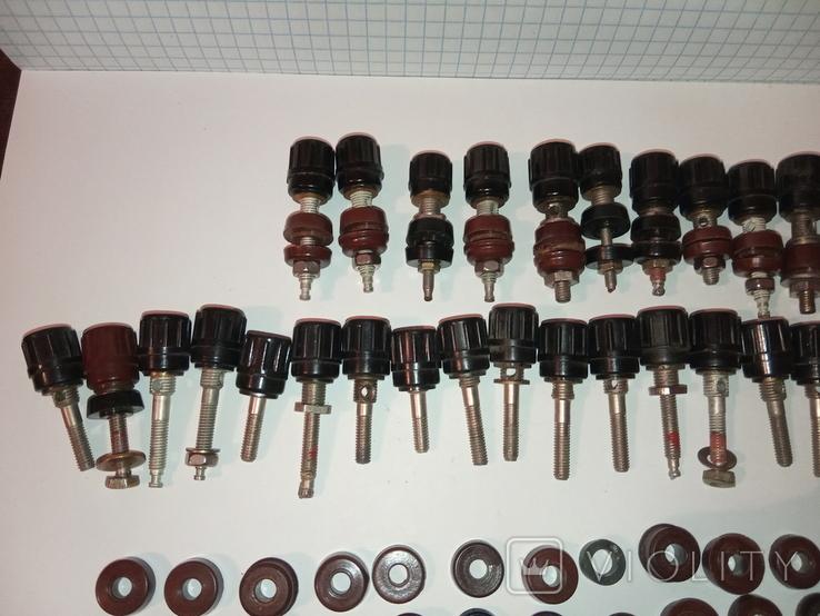 Клеми приладові з карболітовими шайбами (запчастини на збірку), фото №4