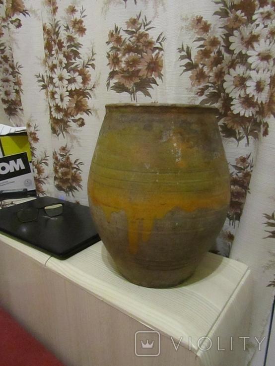Старинная керамическая ваза Гуцульщина, фото №2