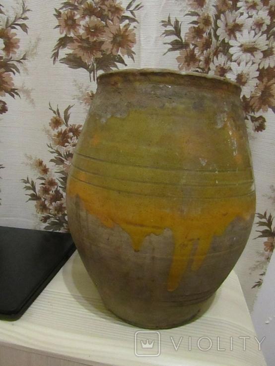 Старинная керамическая ваза Гуцульщина, фото №3