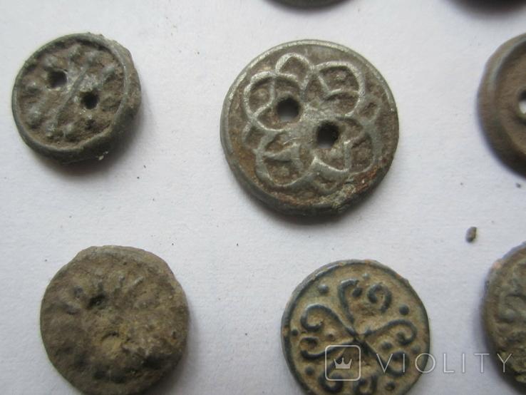 Старинные оловянные пуговицы., фото №4