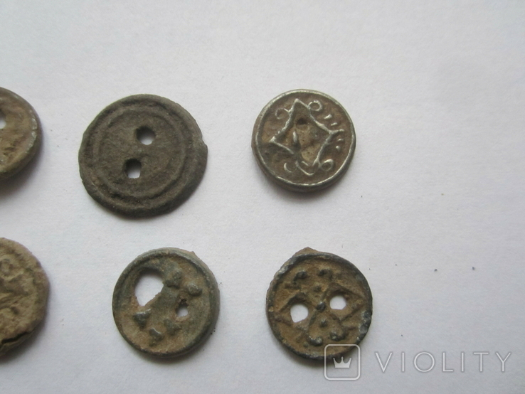 Старинные оловянные пуговицы., фото №6