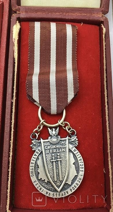 Медаль Польшы 1410-1945 р Братство по оружию, фото №2